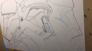 Inking the Rouge One troopers