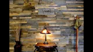 Reclaimed Wood Wall  By Ganzi-window.com