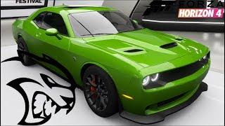 Forza Horizon 4 - DODGE CHALLENGER HELLCAT - Customization, Top Speed Run, Review