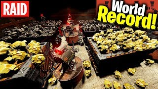 Raided the RICHEST CAVE BASE ever SEEN! *World Record* - Rust solo raiding