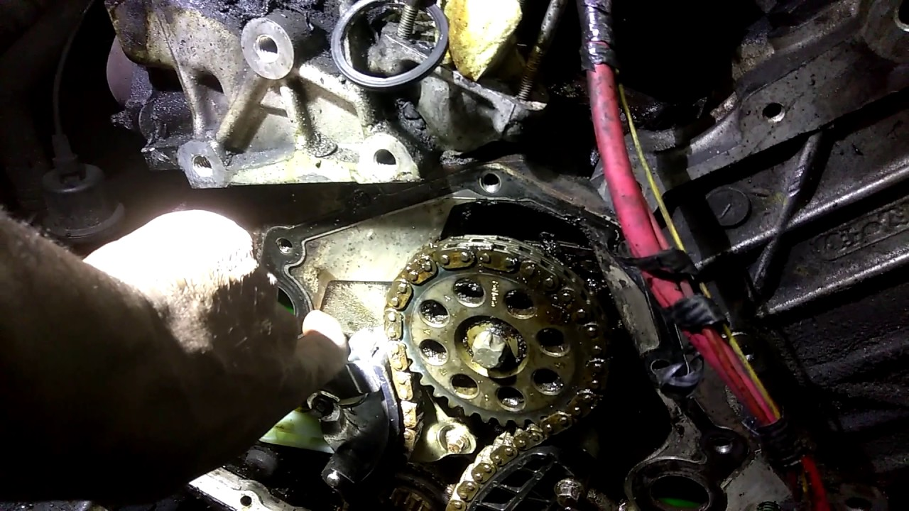 2002-2007 ford explorer timing chain tensioner and timing guard
