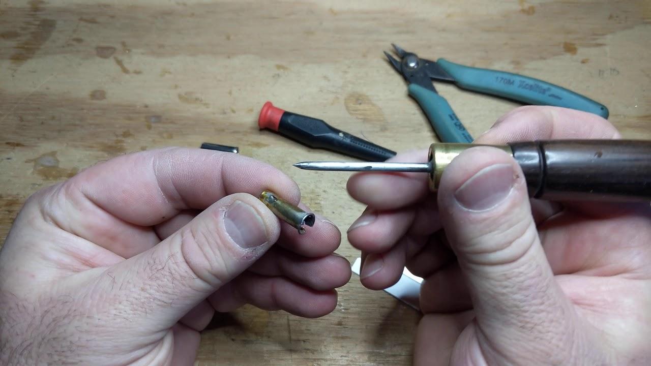 Straight Calligraphy Pen Holder Cigar Shape Stainless Steel Ferrule