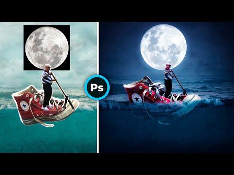 Кед под луной / Photoshop tutorials