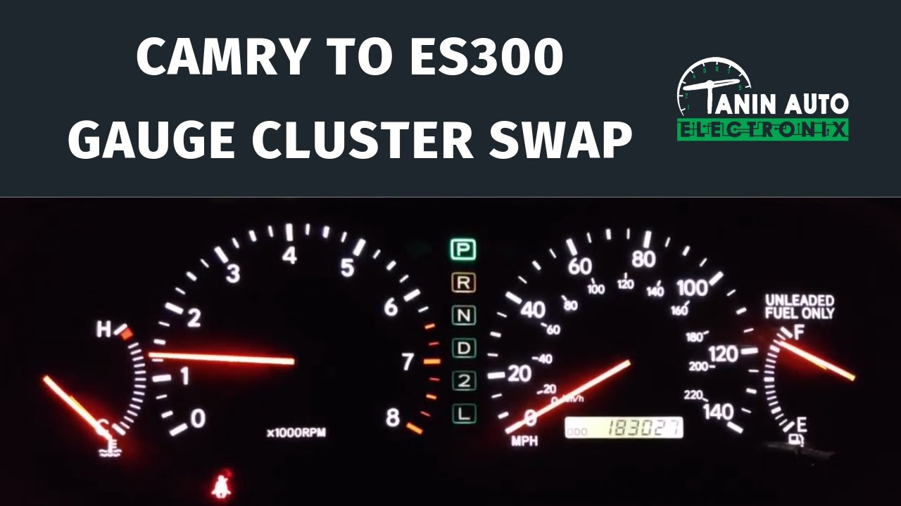 small resolution of 1997 2001 toyota camry to lexus es300 instrument cluster swap w wiring harness upgrade kit tae