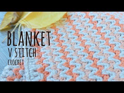 Tutorial Easy Baby Blanket V Stitch Crochet Youtube