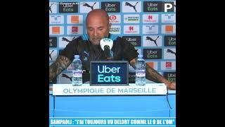 """Jorge Sampaoli : """" J'ai toujours vu Andy Delort comme le n°9 de l'OM """""""