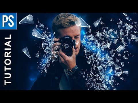 Glass Shatter Effect using Photoshop - Web Design Tips