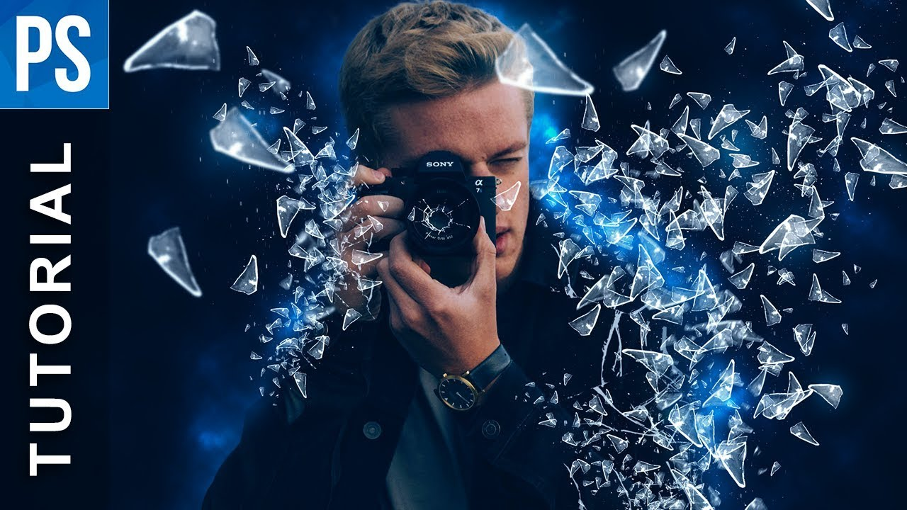 Photoshop: How to Create a Glass Shatter Effect - Tutorial