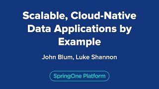 Scalable, Cloud-Native Data Applications by Example