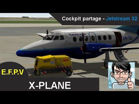 X-Plane 10: Jetstream 32 LFMN - LEBL (Partage Cockpit)