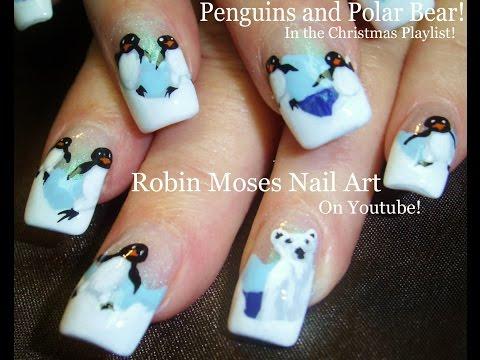 Polar Bear & Penguin Nails | Winter Nail Art Design Tutorial thumbnail