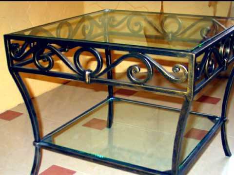 Кованый столик со стеклом стол со стеклянной столешницей ковка