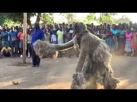 Nyau Dance of the Gule Wamkulu Secret Society in Malawi