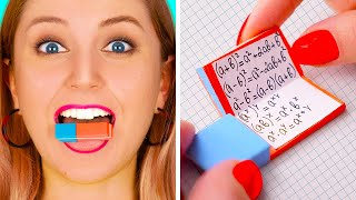 FUNNY DIY SCHOOL HACKS Easy Crafts And Hacks For Back To School By 123 GO