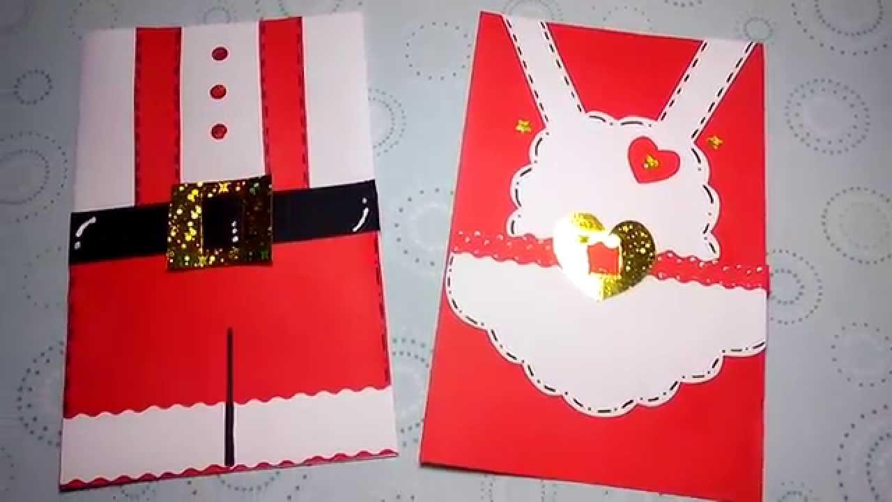 Tarjetas navide as sr y sra claus youtube - Como hacer tarjetas de navidad faciles ...