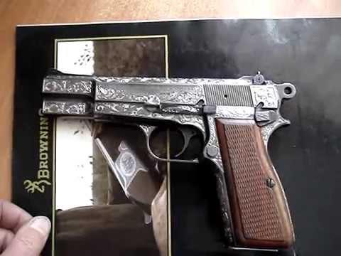 Ручная гравировка пистолета Браунинг / Hand engraving Browning pistol