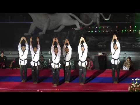 Aksi Taekwondo pada Festival Seni Bela Diri Dunia 2017