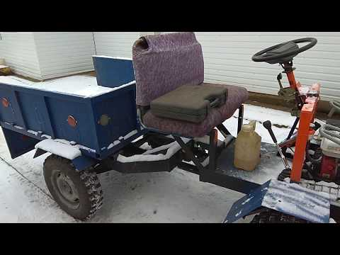 Самодельный трактор с кузовом