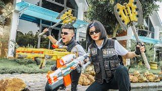 LTT Game Nerf War : Special Mission Warriors SEAL X Nerf Guns Fight BOSS Territory Braum Crazy