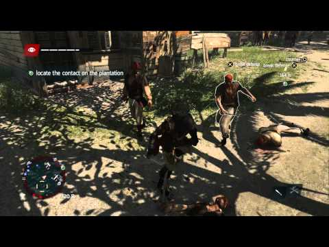 Assassins Creed IV Freedom Cry - Laying The First Brick: Liberate Slaves, Break Guard w Machete PS4