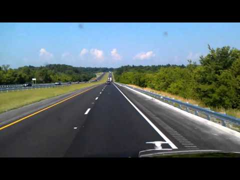 Interstate 24 Eastbound rolling past Kentucky Lake