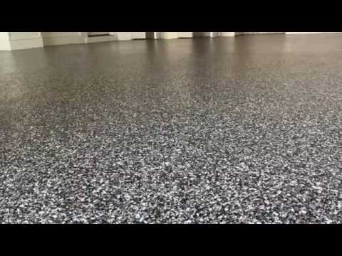 Epoxy Floor Coating with Clear Coat Application