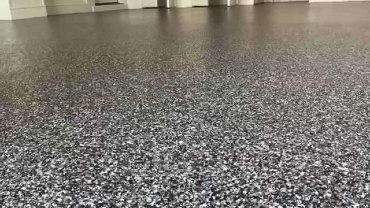 Epoxy Floor Coating With Clear Coat Application   YouTube
