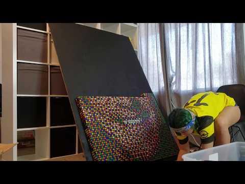 Jeff Probst Rubik's Cube Portrait