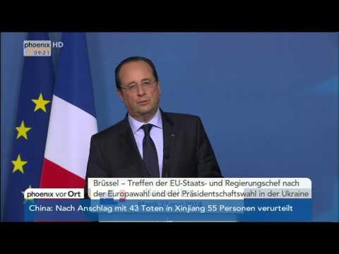 EU-Sondergipfel - Merkel, Hollande, Van Rompuy & Barroso zur Kommissionsspitze am 28.05.2014