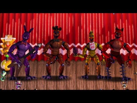 (FNAF6 Mod) New! Monsters FNaF 1 Animatronics! - FFPS
