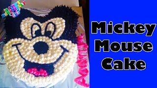 Disney Mickey Mouse Birthday Cake Recipe  Homemade Eggless Cake Recipe For Kids in Hindi