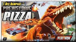 T-REX RAMPAGE - PREHISTORIC PIZZA - Dinosaur Game