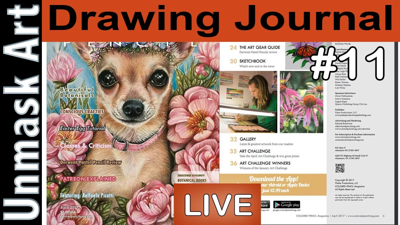 Drawing Journal Live 11 I M Published In Colored Pencil Magazine Again