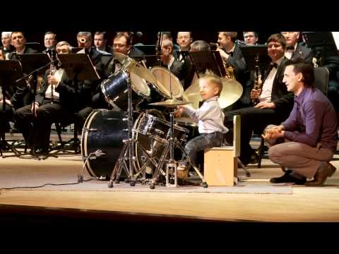 Pint-size Drummer Rocks Out With Orchestra