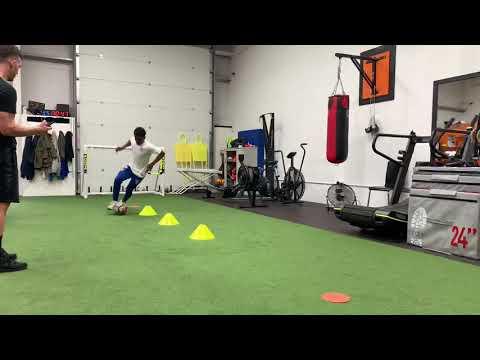 Pre season footwork session with Tariq Lamptey at Studio 9 Fitness