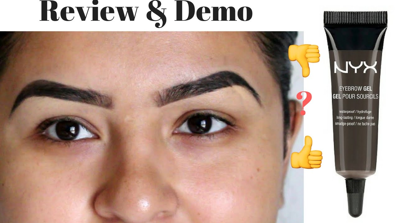 Nyx Eyebrow Gel Black Noir Review And Demo Youtube