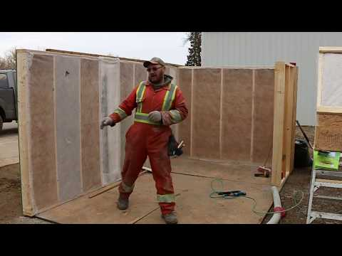 Dense Pack Cellulose - Wall & Attic Demonstration