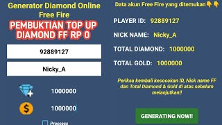 Gambar cover Pembuktian Top UP Diamond FF RP 0