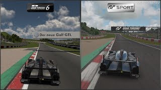 Gran Turismo 6 vs Gran Turismo Sport - Audi R18 TDI (Audi Sport Team Joest) '11 at Nurburgring GP