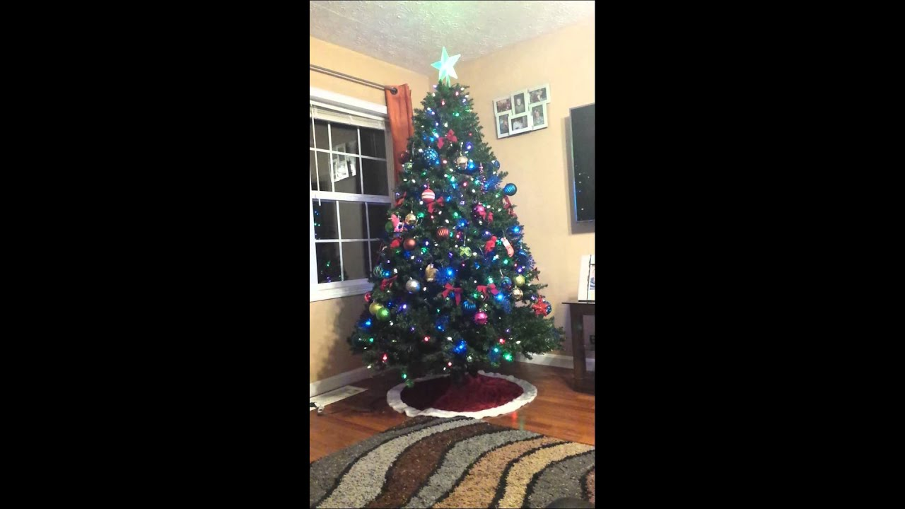 rotating christmas tree