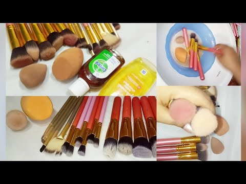 How to clean my dirty makeup brushes  Jyoti tutorial