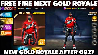 free fire new gold royale bundle || next gold royale free fire || free fire gold royale new update