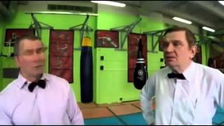 Серегей Симонов и Дмитрий Шилов перед боем