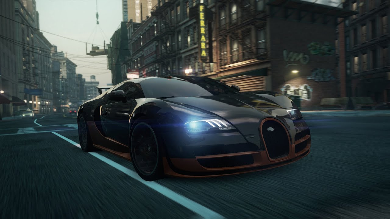 need for speed most wanted 2012 race bugatti veyron 16 4 super sport youtube. Black Bedroom Furniture Sets. Home Design Ideas