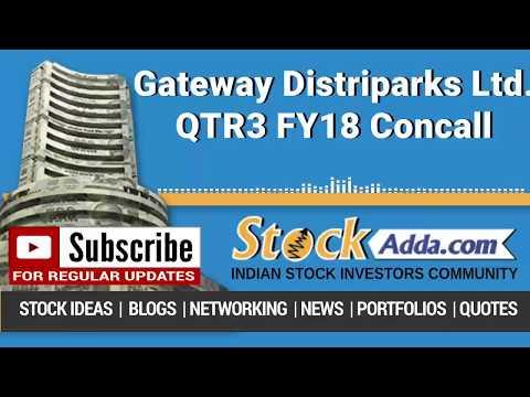 Gateway Distriparks Ltd Investors Conference Call Q3FY18