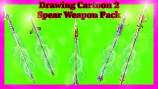 Spear Weapon Pack DC2 । Drawing Cartoons 2 Item Download । Рисуем Мультфильмы 2
