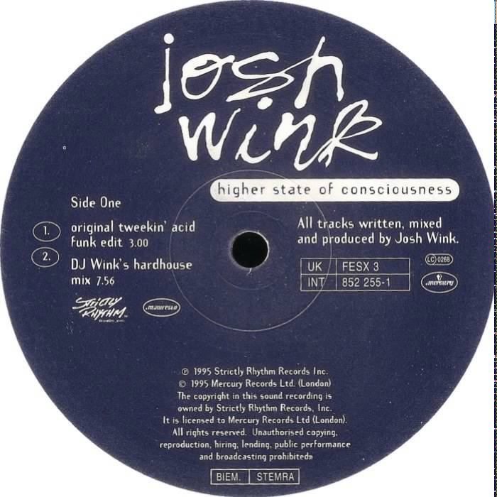 Josh Wink* Wink - Higher State Of Consciousness (The European Remixes)