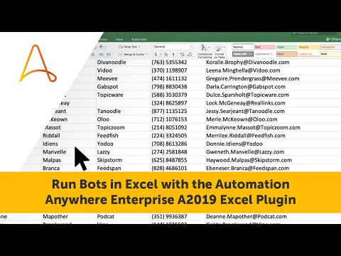 Run Bots In Excel With A Simple Automation Anywhere Enterprise A2019 Plugin