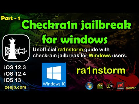 Checkra1n Jailbreak for Windows users. (Rainstorm) : Step by Step Guide