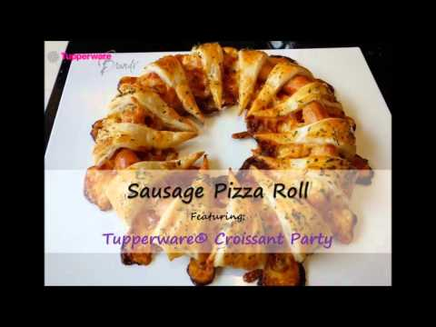 How to Make Sausage Pizza Roll With Tupperware